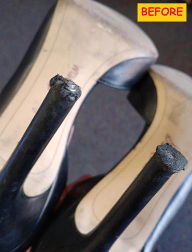Repair high heel tips at Butler Hill Shoe Repair and Alterations in St Louis 63129