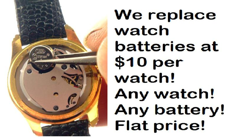 Watch Battery Replacement for $10 per watch, MO 63129